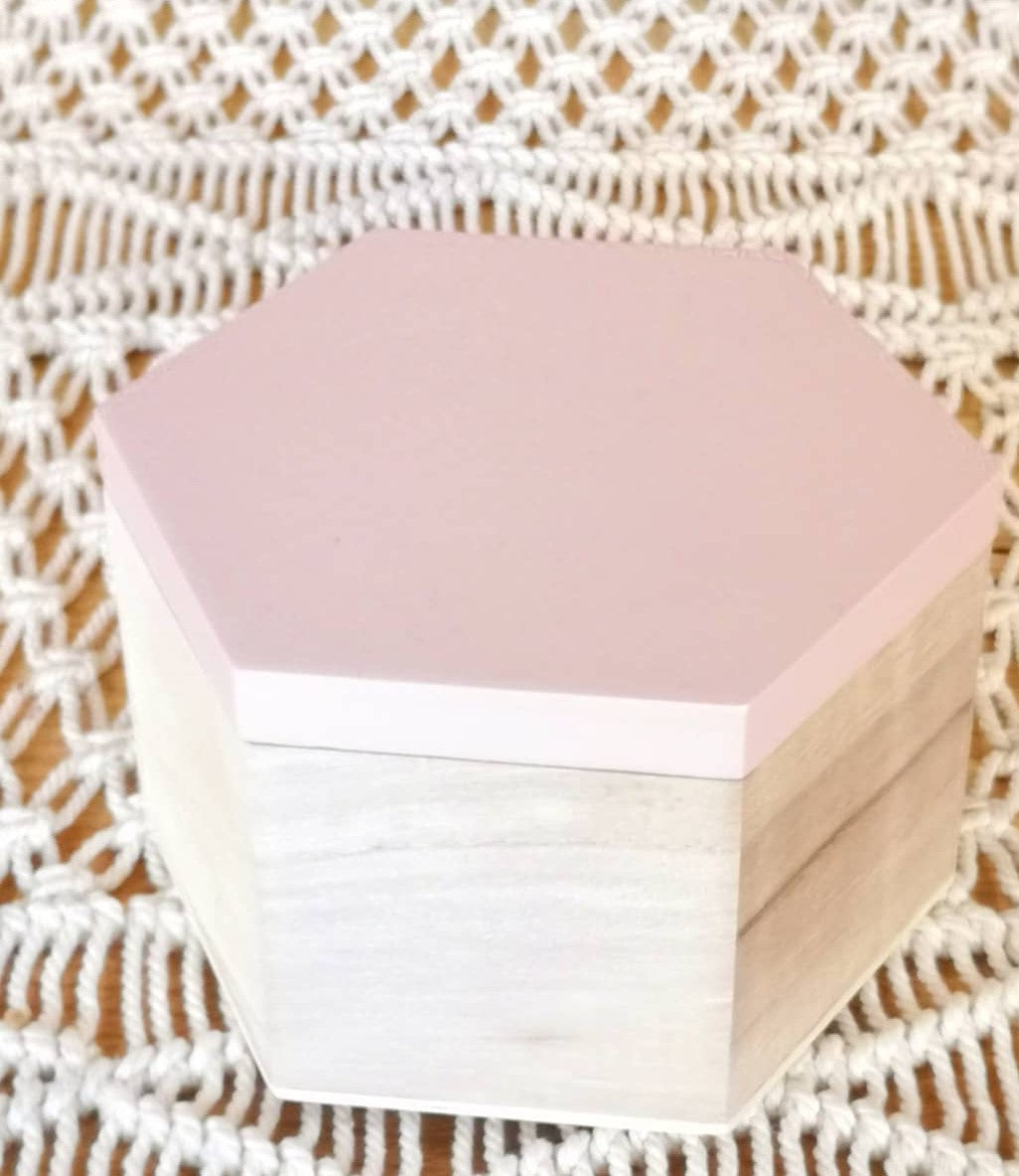 Pink Wooden Jewellery Box