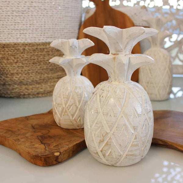 Painted Wooden Pineapple Ornament