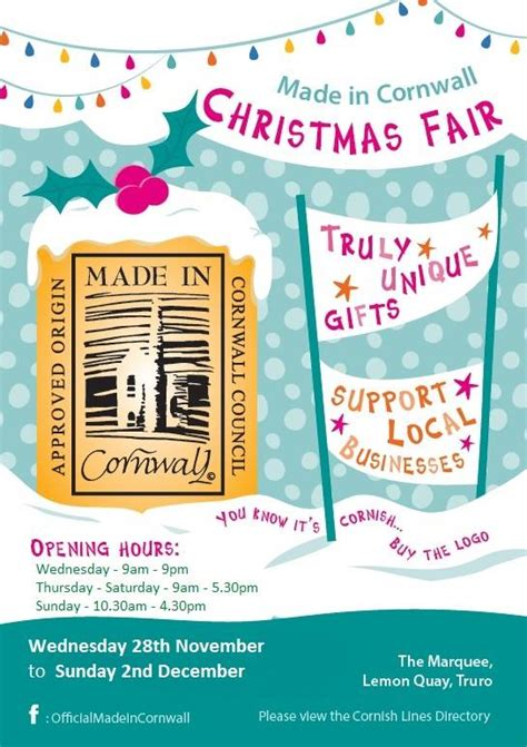 Made In Cornwall Christmas Fair...
