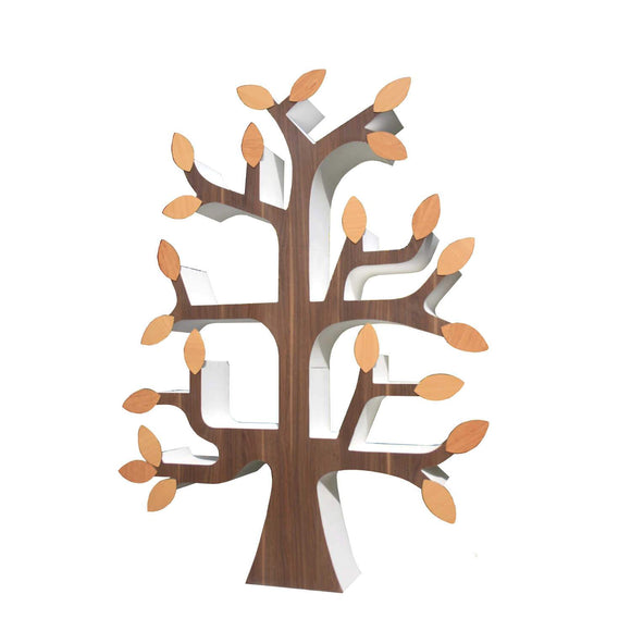 Image of a Jimagination Creations unique bookcase in the shape of a tree.