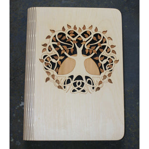 Celtic Tree of Life A5 wooden bookcover