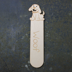 Wooden bookmark with a dog desgin