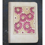 A5 Gerbera wooden book cover