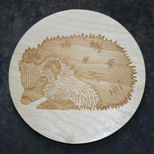 Hedgehog wooden coaster