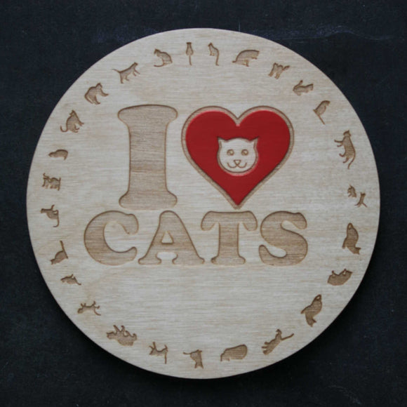 I love cats coaster