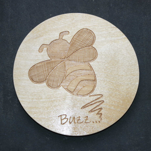Bee wooden coaster