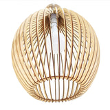 wooden lampshade in a rosebud shape