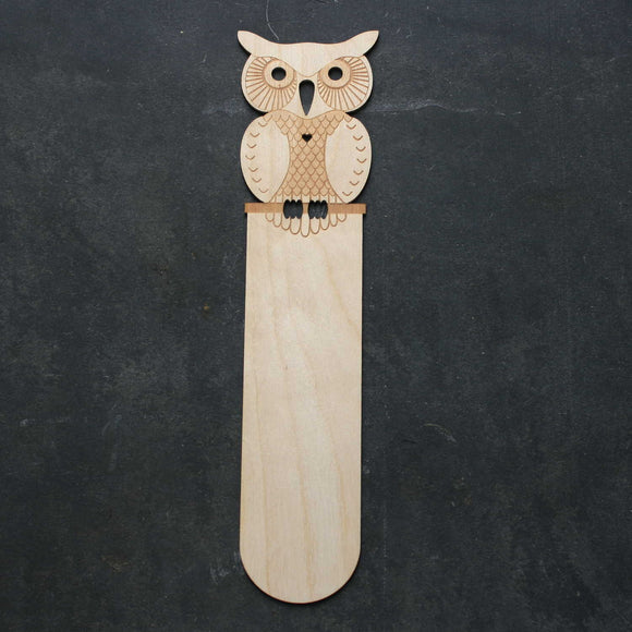 Owl wooden bookmark