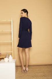 Alexa Wrap Knit Dress