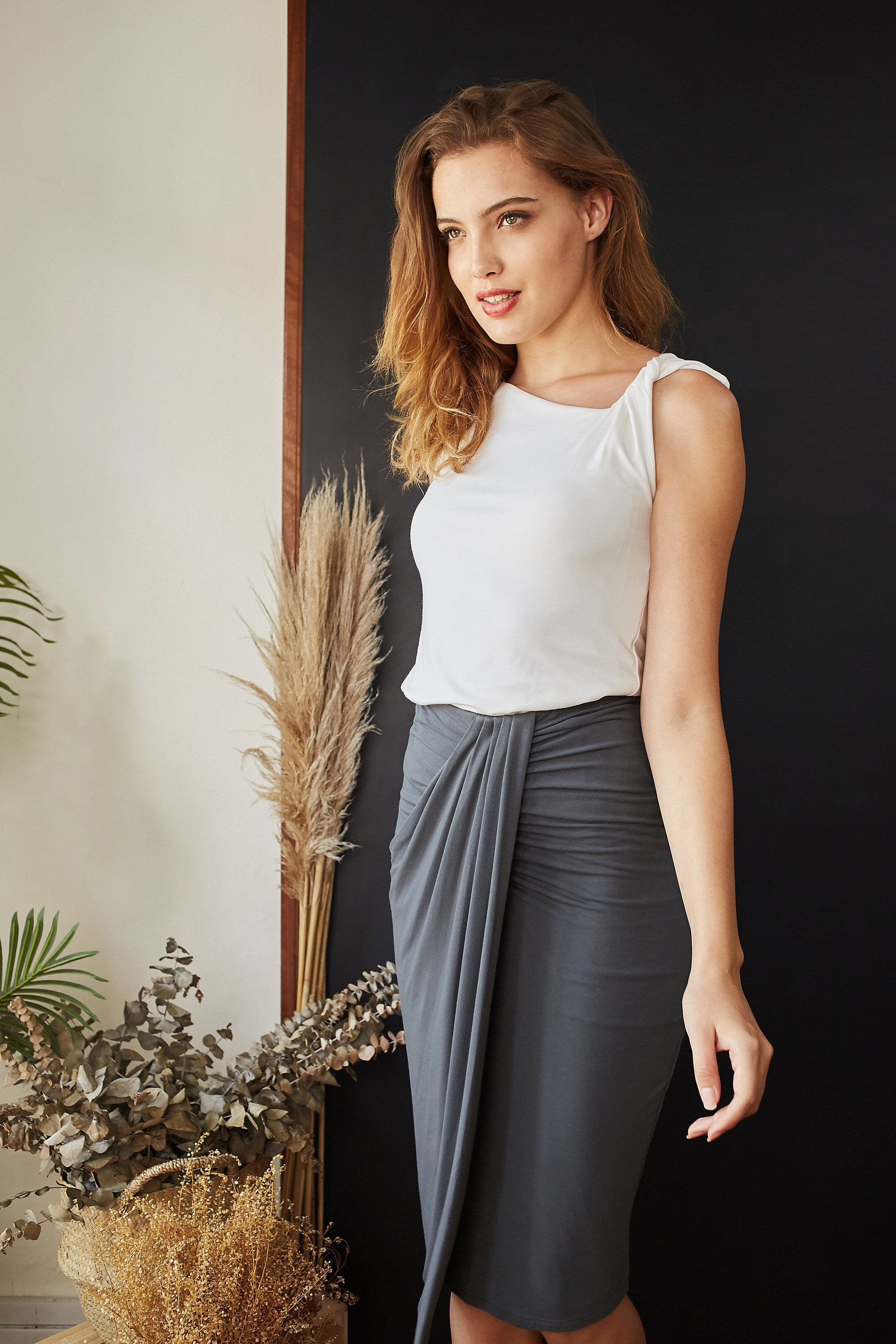 Lisa Drape Skirt