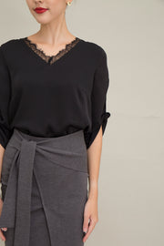 Smith Knotted Sleeves Top