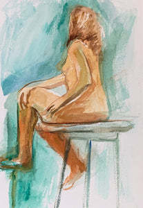 Sitting Nude Woman