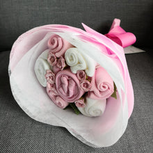 Load image into Gallery viewer, A Sweet Pink Buttercup Baby Clothes Bouquet