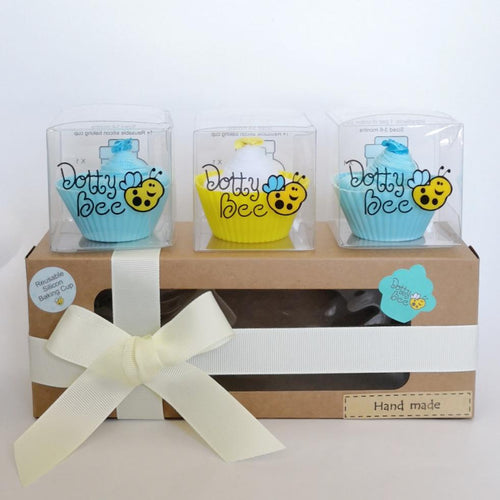 A Scrumptious Light Blue Cupcake Box
