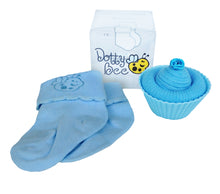 Load image into Gallery viewer, Mama & Baby - A Scrumptious Blue Cupcake Box with Relaxing Body & Bath Oils Gift Hamper