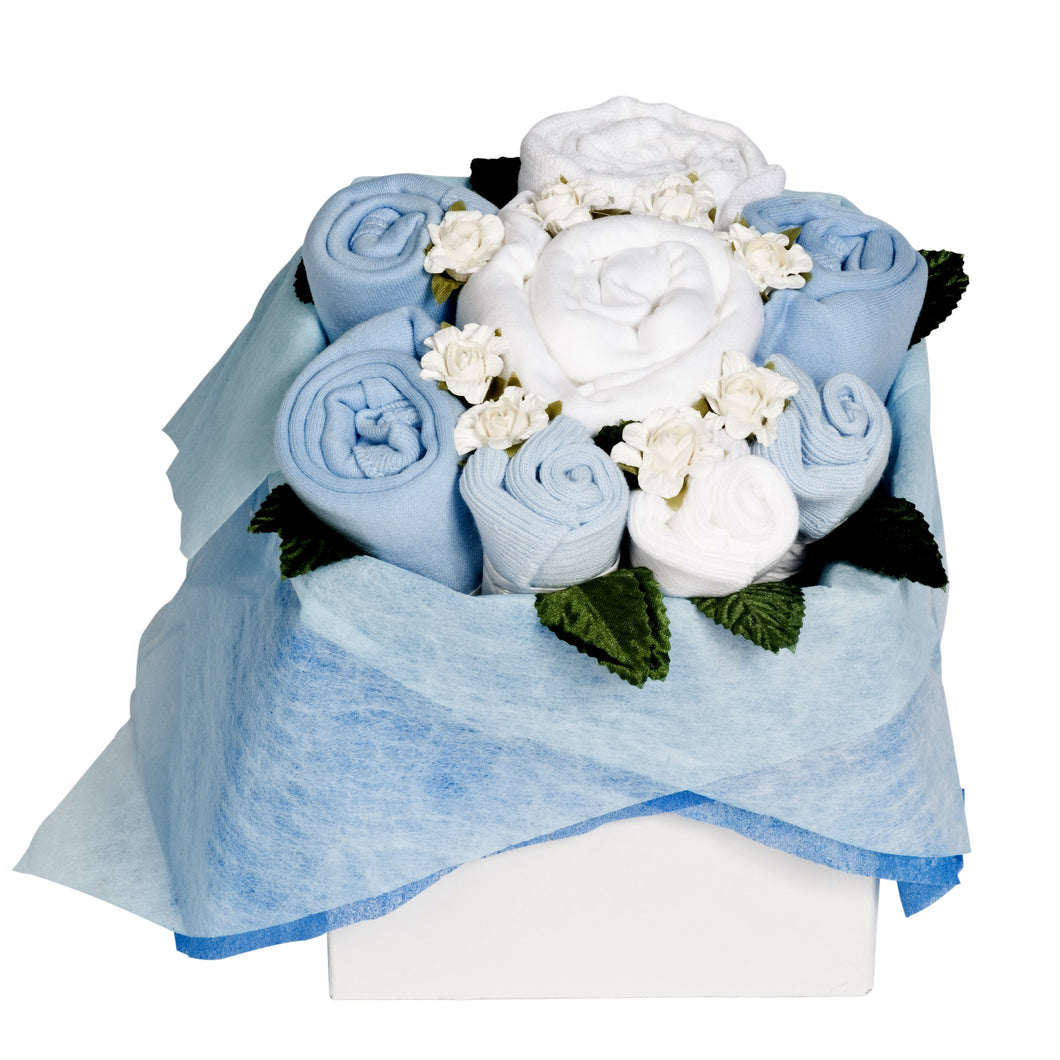 Baby Blue Blossom Box Bouquet