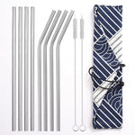 Silver Stainless Steel Straw - Shell&Turtle