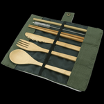 Bamboo Travel Utensils Set - Shell&Turtle