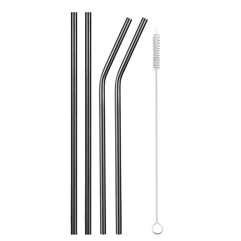 Black Stainless Steel Metal Straw - Shell&Turtle