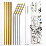 Gold Stainless Steel Straw - Shell&Turtle