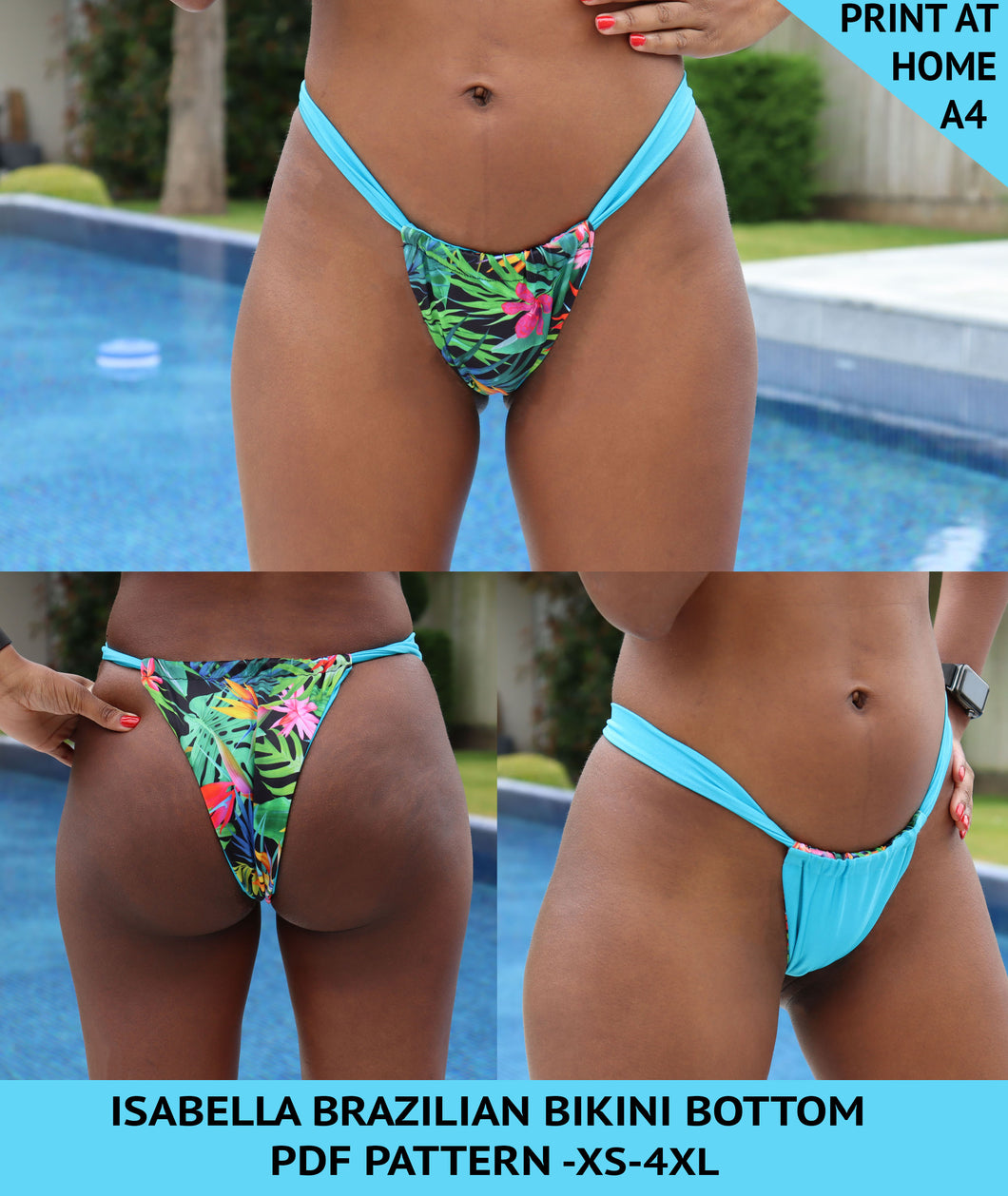 Isabella brazilian bikini bottom pattern, gigipatterns, gigi fashion designer