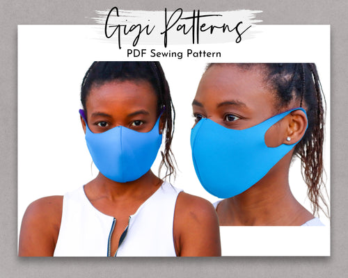 Easy DIY Neoprene Face Mask Pattern - PDF SEWING PATTERN