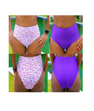 Load image into Gallery viewer, LILY High Waist Bikini Bottoms, DIY Reversible Bikini Pattern, sewing tutorial for beginners