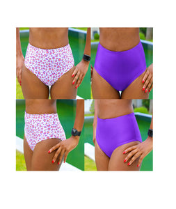 LILY High Waist Bikini Bottoms, DIY Reversible Bikini Pattern, sewing tutorial for beginners