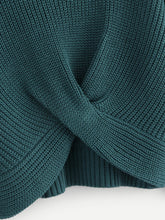 Load image into Gallery viewer, Twist Hem Solid Sweater