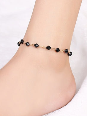 Bead & Bar Design Anklet