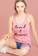 Load image into Gallery viewer, Brunch Mimosas Racer Back Scoop Neck Tank Top