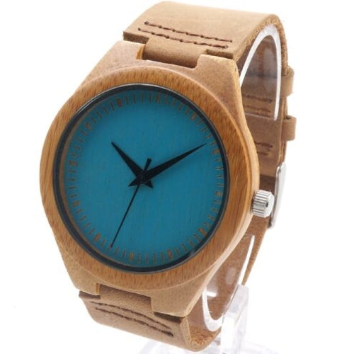 Colorful Natural Bamboo Wood Men Watch