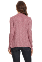 Load image into Gallery viewer, Women's Ribbed Cardigan Short Draped Open Front