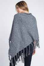 Load image into Gallery viewer, Women's V-Shaped Fringe Poncho