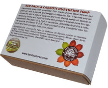 Load image into Gallery viewer, Red Palm-Carrot Nurturing Organic Soap. All
