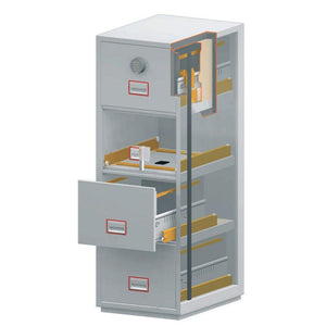 Phoenix World Class Vertical Fire Rated Filing Cabinet - FS2264K (4 Drawers)