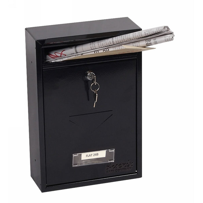 Phoenix Letra Front Loading Mail Box MB0116KB (Black)