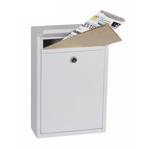 Phoenix Letra Front Loading Mail Box MB0116KW (White)