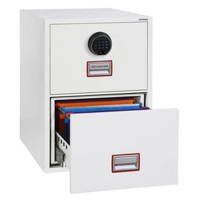 Phoenix World Class Vertical Fire Rated Filing Cabinet - FS2252F (2 Drawers)