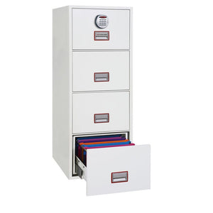 Phoenix World Class Vertical Fire Rated Filing Cabinet - FS2264E (4 Drawers)