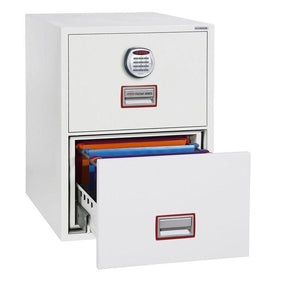 Phoenix World Class Vertical Fire Rated Filing Cabinet - FS2262E (2 Drawers)