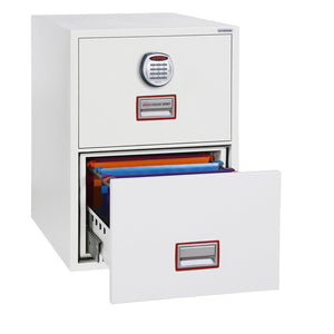 Phoenix World Class Vertical Fire Rated Filing Cabinet - FS2252E (2 Drawers)