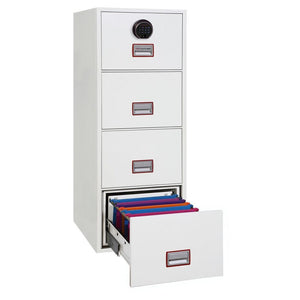 Phoenix World Class Vertical Fire Rated Filing Cabinet - FS2274F (4 Drawers)