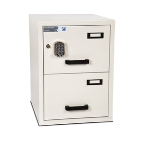 Burton Firefile Fire Resistant Filing Cabinet | 2 Drawer - Electronic