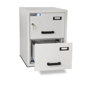 Burton Firefile Fire Resistant Filing Cabinet | 2 Drawer - Key