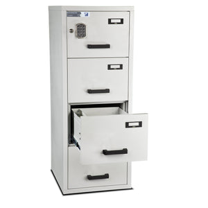 Burton Firefile Fire Resistant Filing Cabinet | 4 Drawer - Electronic