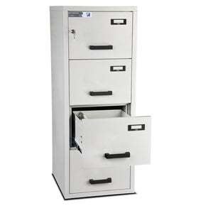Burton Firefile Fire Resistant Filing Cabinet | 4 Drawer - Key