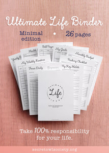 Ultimate Life Binder, Minimalist Edition