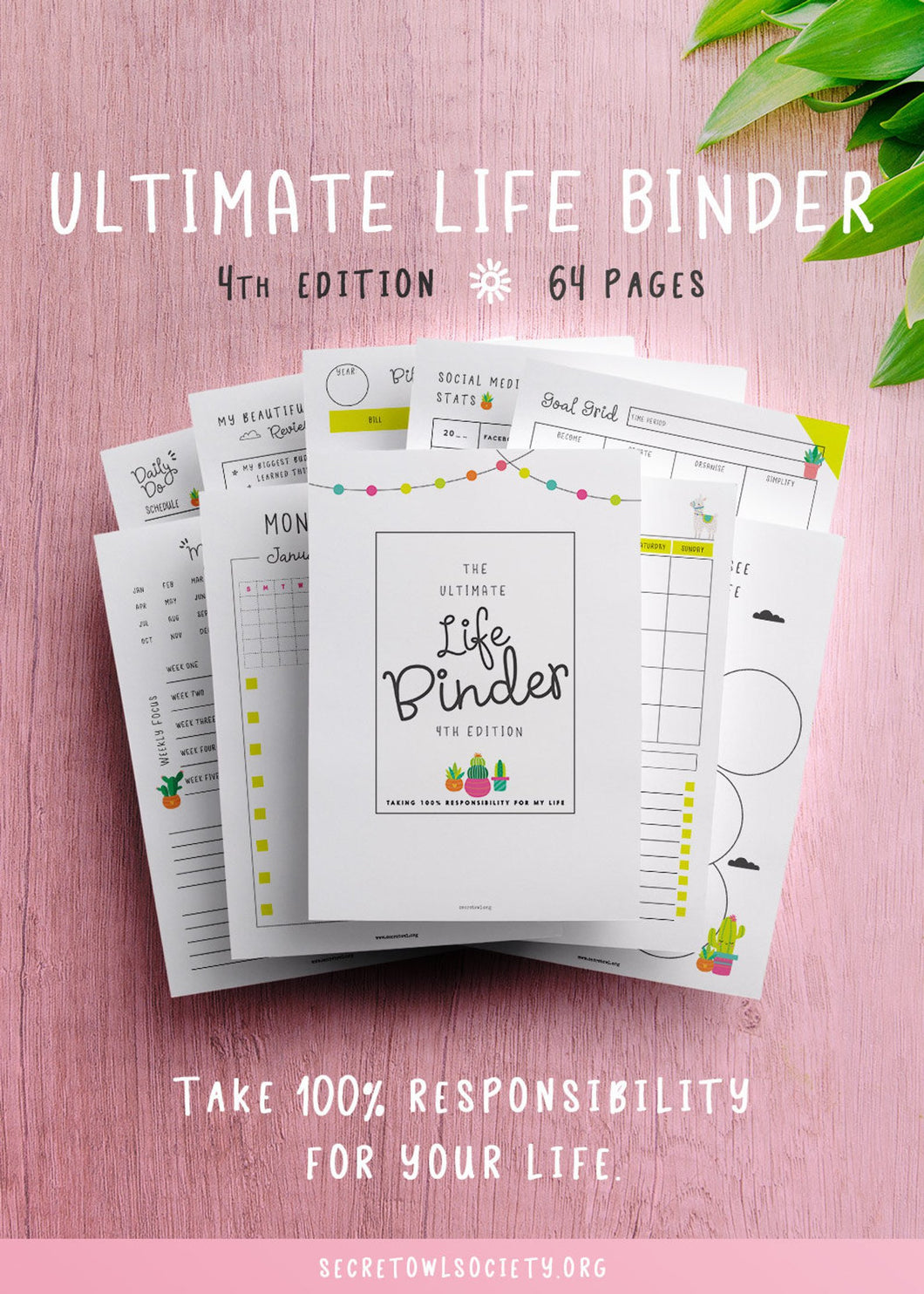 Ultimate Life Binder, Cactus and Llama Edition