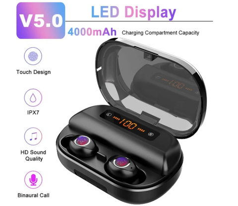 5econds touch control wireless earbuds